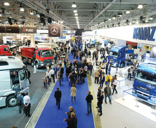 Daimler KAMAZ Rus and KAMAZ enjoyed pride of place at Comtrans.