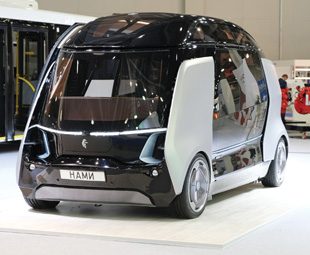 KAMAZ showed an autonomous people mover, which can accommodate up to 12 people and can reach a maximum speed of 40 km/h.